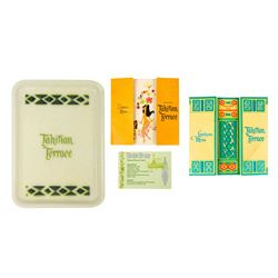 Set of Tahitian Terrace Menus & Tip Tray.
