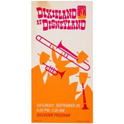 Dixieland at Disneyland  Souvenir Program.
