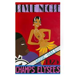 """Revue Negre"" Original Rolly Crump Painting."