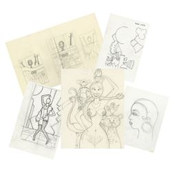 Set of Josephine Baker Concept Sketches.