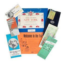 Collection of World's Fair Memorabilia.