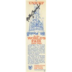 "Signed ""It's a Small World"" World's Fair Bookmark."