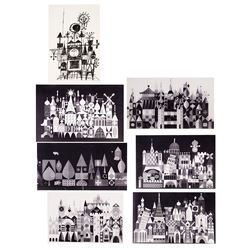 "Set of 7 Mary Blair ""Small World"" Concept Art Prints."