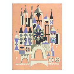 "Mary Blair ""It's a Small World"" Concept Painting."