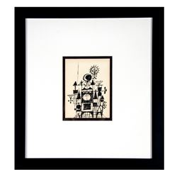 Mary Blair Original Sketch for  Small World  Clock.