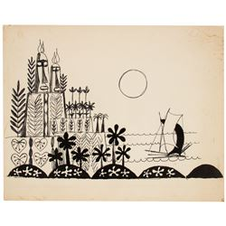 "Mary Blair Original Concept for ""It's a Small World""."