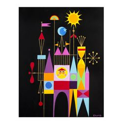 """It's a Small World"" Clock Painting by Rolly Crump."