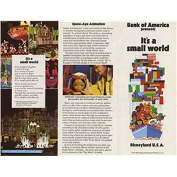 """It's a Small World"" Bank of America Brochure."