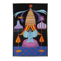 """It's a Small World"" Elephant Painting by Rolly Crump."