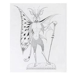 """""""Museum of the Weird"""" Beast Man Working Print."""