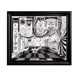 """Museum of the Weird"" Seance Room Concept Print."