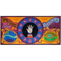 """""""Psychic"""" Gypsy Wagon Sign."""