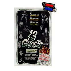 "William Castle's ""13 Ghosts"" Poster & Ghost Viewer."