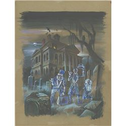 """Haunted Mansion"" Original Hitchhiking Ghost Painting."
