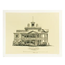 """Haunted Mansion"" South Elevation Print."