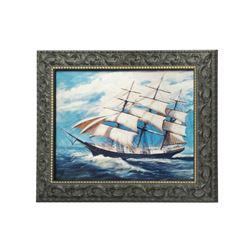 """Haunted Mansion"" Lenticular Sailing Ship Portrait."