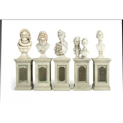 """Haunted Mansion"" Dread Family Busts Set."