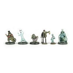 """Haunted Mansion"" Pewter Miniatures in Box."