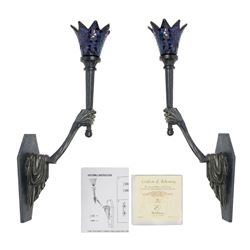 "Pair of ""Crypt Torch Sconce"" Candle Holders."
