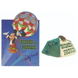 Signed  Disney on Parade  Souvenir Cap & Program.