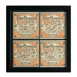 Lithograph Set of Ernie Ball Guitar Strings Logos.