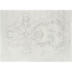 Signed Master Plan for EPCOT Print.