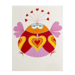 "Rolly Crump Original ""Love Bug"" Artwork."