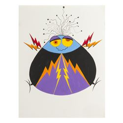 "Rolly Crump Original ""Lightning Bug"" Artwork."