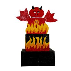 """""""Devil"""" Papier Mache Sculpture."""