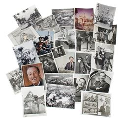 Collection of 36 Photos of Walt Disney & Disneyland.