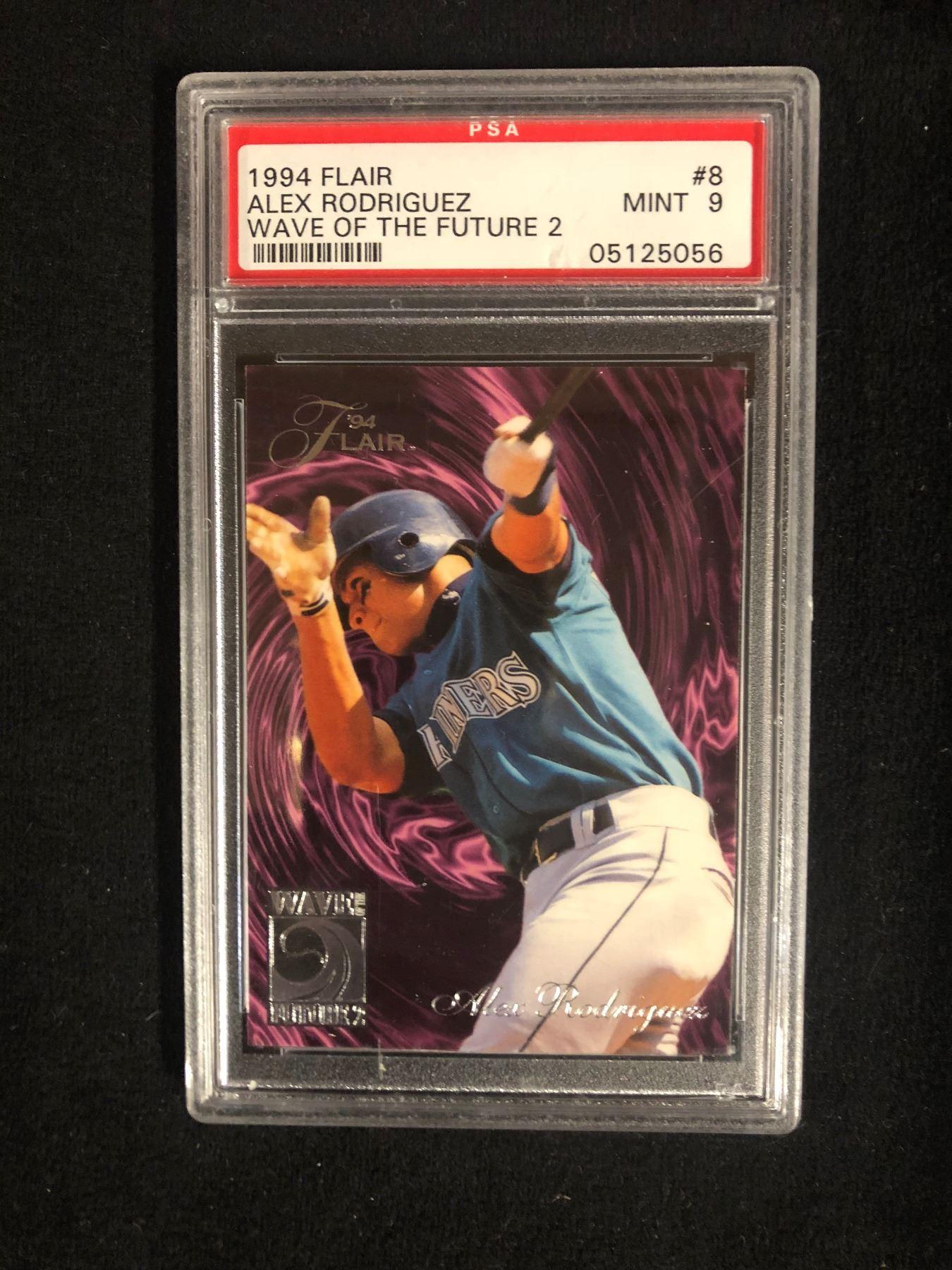 1994 Flair 8 Alex Rodriguez Wave Of The Future 2 Mint 9 Psa