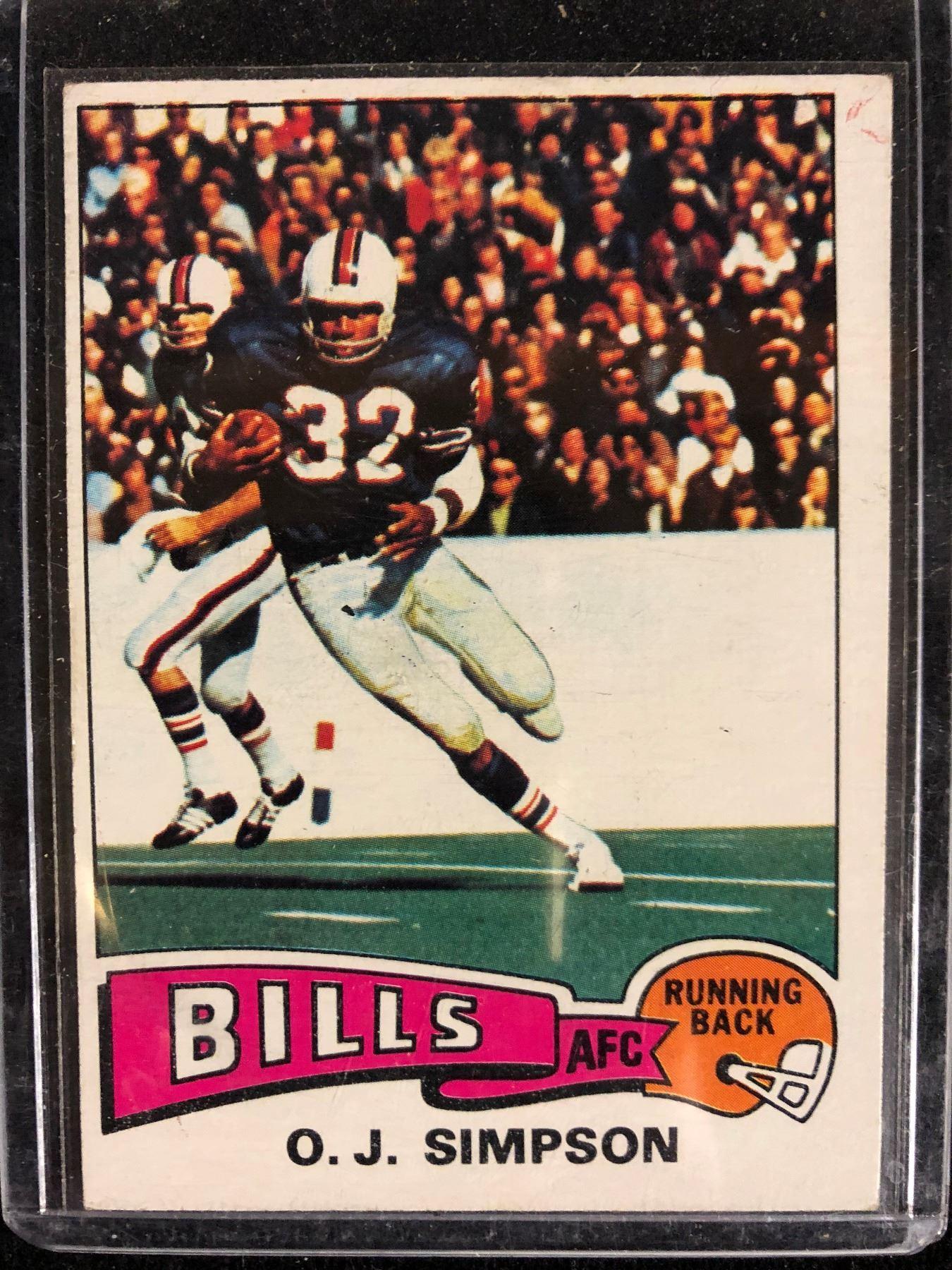 461b77c0 1975 Topps #500 OJ Simpson Buffalo Bills Football Card