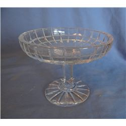 """2 Crystal candy dishes, 6"""" w & 7"""", Condiment ferris wheel, 4 pc"""