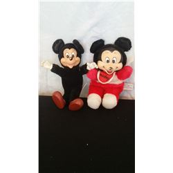 """2 Vintage Mickey Mouse, 6"""" t & 10"""" t"""