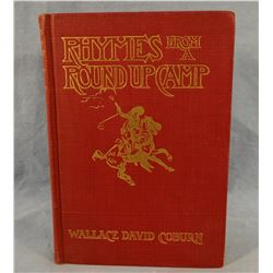 Coburn, Wallace, Rhymes From A Cowboy Camp, 1903, 2nd, Russell illustrated, fine