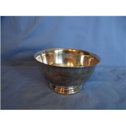 """Gorham 5"""" tea slop bowl; Wilcox pewter tea set & Silver plated tray"""