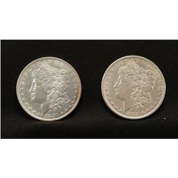 2 -1880 P Morgan dollars, both fine