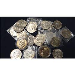 21 Ike dollars, asstd dates, no silver