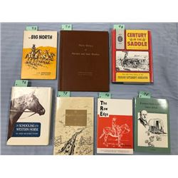 7 books: Wagner, Abner M. EL RANCHO GUMBO, 1983, 1st, author signed,; Goff, Richard and R. H. McCaff