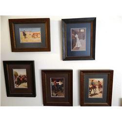 5 Maynard Dixon framed prints, ca. 1911