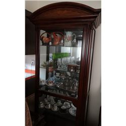 """Mahagany china/curio cabinet, 80"""" h x 40"""" w x 16"""" d"""