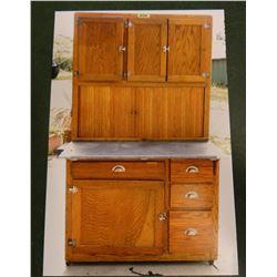 Hoosier kitchen cabinet, horizontal tamber, excellent condition
