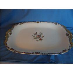 """Limoges platter, gold trim, 17"""" l"""