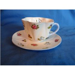 Shelley cup and saucer set, Rose, Pansey, pattern