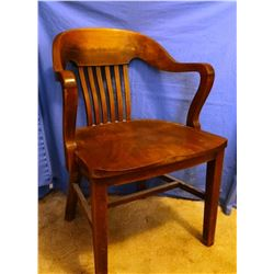 Oak chair, from Bank in Reserve, MT