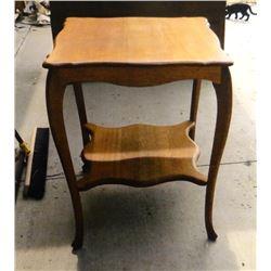 """Oak parlor table, 20"""" x 20"""""""