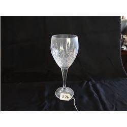 Mikasa crystal stemware, 6 each of water, wine and liquor