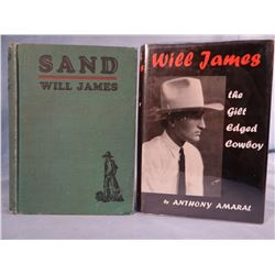 James, Will, SAND, 1929, 1st and Amaral, Anthony, THE GILT EDGED COWBOY, The Will James Story, 1st