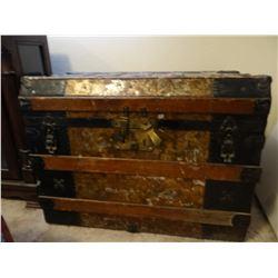 Steamer trunk, ornate