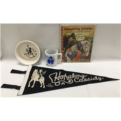 Hopalong Cassidy cup and cereal bowl